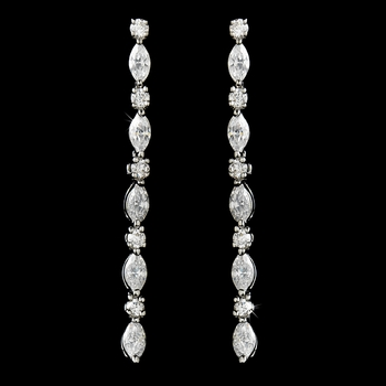Silver Cubic Zirconia Rope Earrings E2426