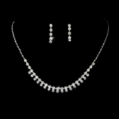 Necklace Earring Set NE 3108 Silver Clear