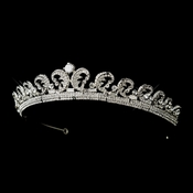 * Royal Kate Middleton Inspired Halo Silver Tiara 8429***Discontinued***