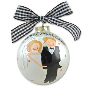 Just Married Bridal Ornament OR-1***Discontinued****