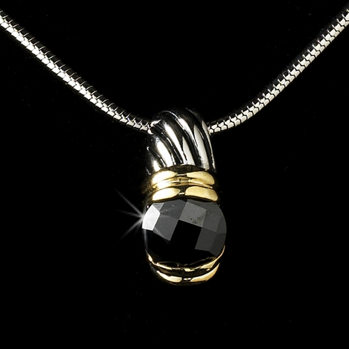 Antique Silver with Black Stone Designer Pendant N 1246