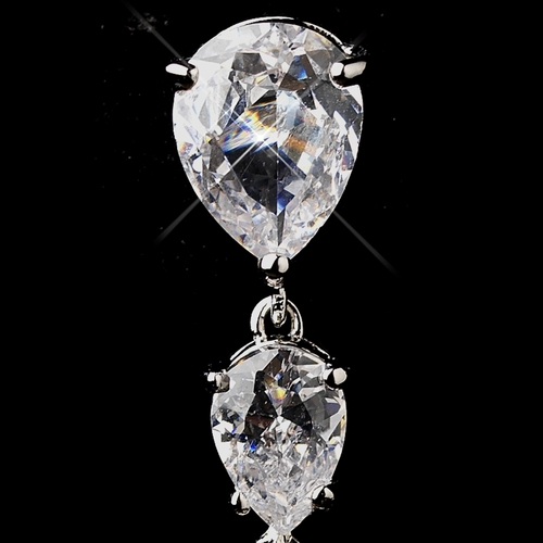 Antique Silver CZ & Mother of Pearl  Earrings 5876