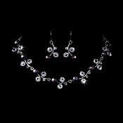 Necklace Earring Set 1043 Dark Purple