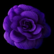 Purple Flower Hair Clip with Brooch Pin 480
