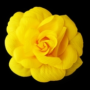 * Yellow Flower Hair Clip with Brooch Pin 480