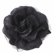 * Black Flower Hair Clip 482