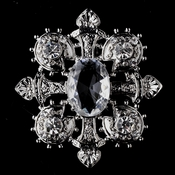 Silver Antique Gothic Cross Brooch 127
