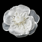 * Rhinestone, Pearl & Sequence Accent Flower Hair Clip 9644