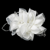 * Intricate Bridal Hair Comb with Laces of Crystals 9645