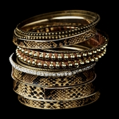 Gold Brown Bangle Bracelet 8858