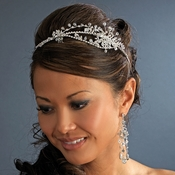 * Crystal Side Accent Bridal Headband Tiara HP8221 **Discontinued**