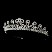 * Silver Rhinestone Bridal Tiara Headpiece Headpiece 953