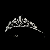 Child's Silver Rhinestone Flower Girl Tiara 607