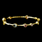 Gold Light Multi CZ Bangle Bracelet 2742