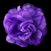 * Purple Flower Hair Clip 482