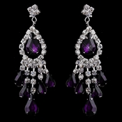 Silver Amethyst Chandelier Earrings 24792