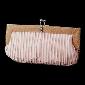 Pink Satin Beaded Bridal Evening Bag 304