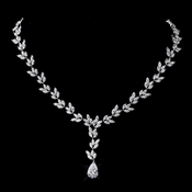 Silver CZ Necklace 8170