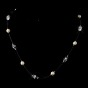 Ivory AB Austrian Crystal Necklace 8370