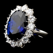 Royal Princess Kate Middleton Inspired Sapphire CZ Ring 5675