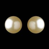 Gold Ivory Pearl Pierced Clipped Earrings 6052