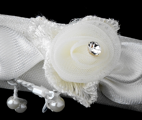 Silver and White Pearl Child's Headband HPC 186