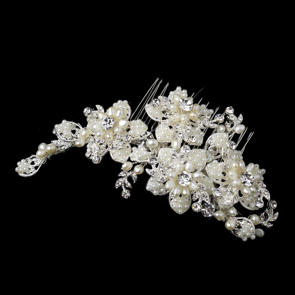 bridal headpiece encrusted with pearls
