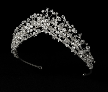 * Crystal Couture Bridal Tiara Headpiece HP 2210