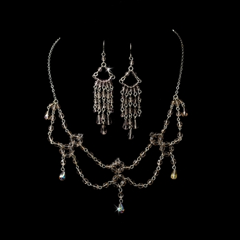 Necklace Earring Set 240 Light Amethyst