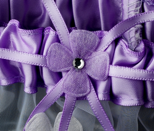 Dainty Lilac Trimmed Garter 305