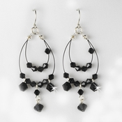 Earring 8153-Silver-Black