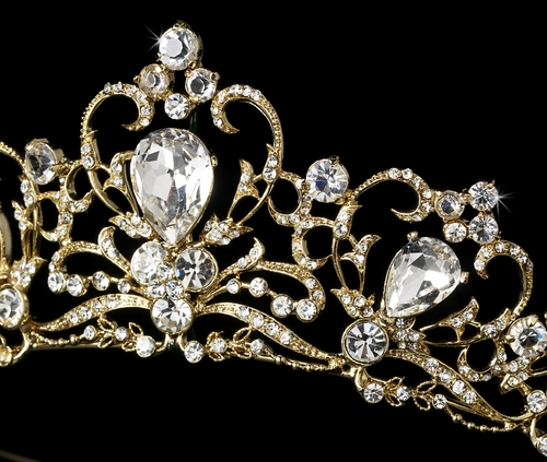 Gold Or Silver Plated Bridal Tiara Hp 8270