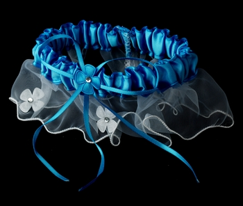 Dainty Turquoise Trimmed Garter 305
