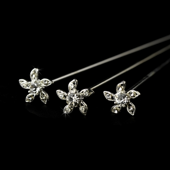 Bouquet Jewelry 110 Silver Clear (Set of 3 )