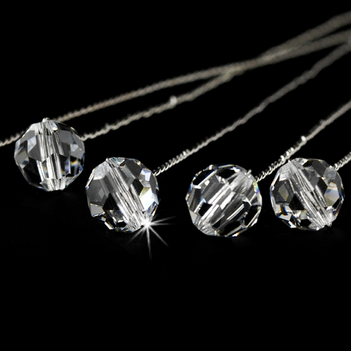 Bouquet Jewlery 301 Silver Clear ( Sold as Set of 6 )