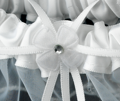 Dainty White Sheer Garter 305