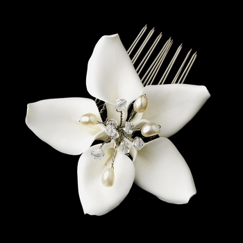 Starfish Orchid Style Bridal Comb with Crystals Comb 8130