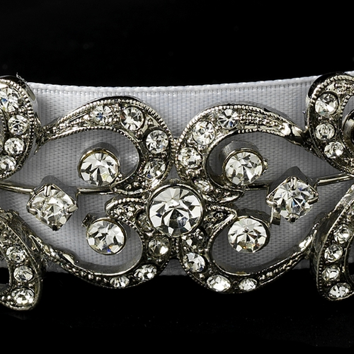 Vintage Rhinestone Bridal Ribbon Headband  HP 8287