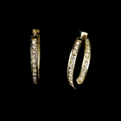 * Gorgeous Gold Clear CZ Hoop Earrings 2020