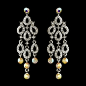 Silver Clear AB Earring Set 8488