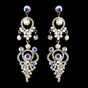 Silver AB Earring Set 1326
