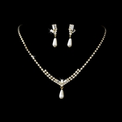 * Necklace Earring Set NE 140 Gold Ivory
