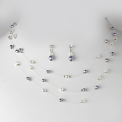 * Necklace Earring Set NE 205 Purple
