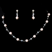 * Necklace Earring Set 207 Pink