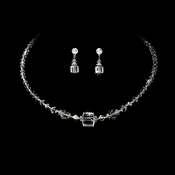 * Necklace Earring Set NE 232 Clear