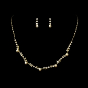 * Necklace Earring Set NE 221 Gold