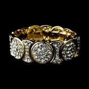 * Luminescent Gold Crystal Fashion Bracelet 8539