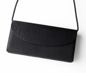 * Wonderful Black Satin Evening Bag 214