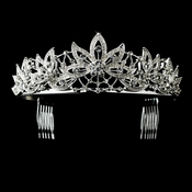* Silver Clear Big Leaf Headpiece 9953