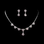 * Necklace Earring Set 331 Silver Lilac